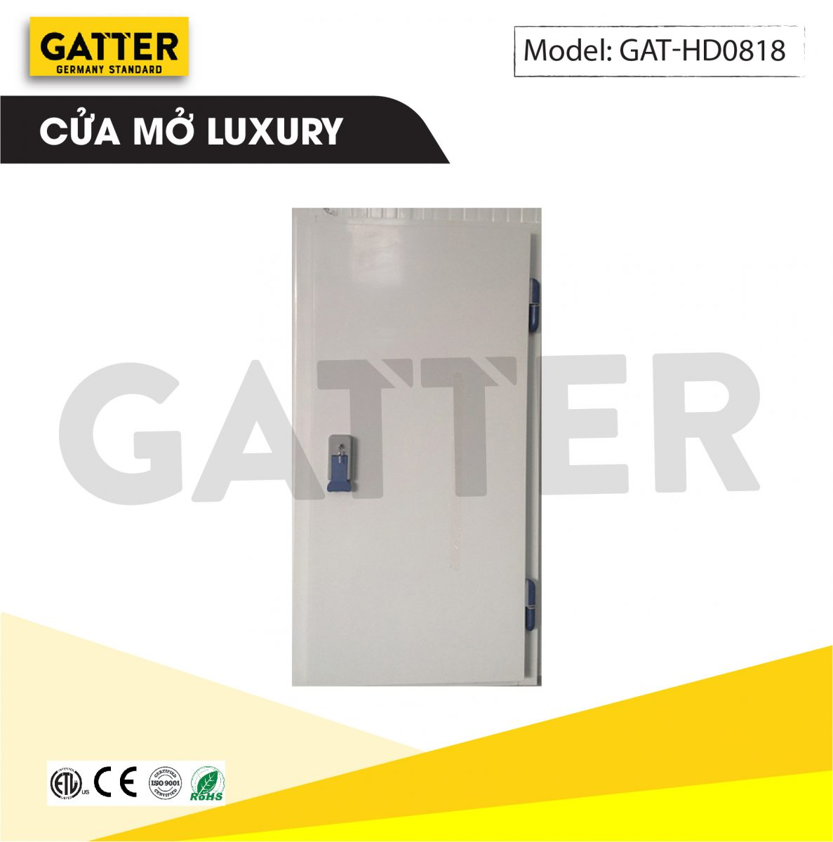 Cửa mở kho lạnh cao cấp Luxury GAT-HD/0818